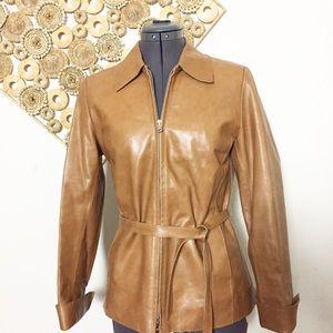 Vintage Vera Pelle Italian Leather Jacket Sz 4-6
